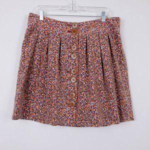 Anthropologie Elevenses Brazen Confetti Skirt